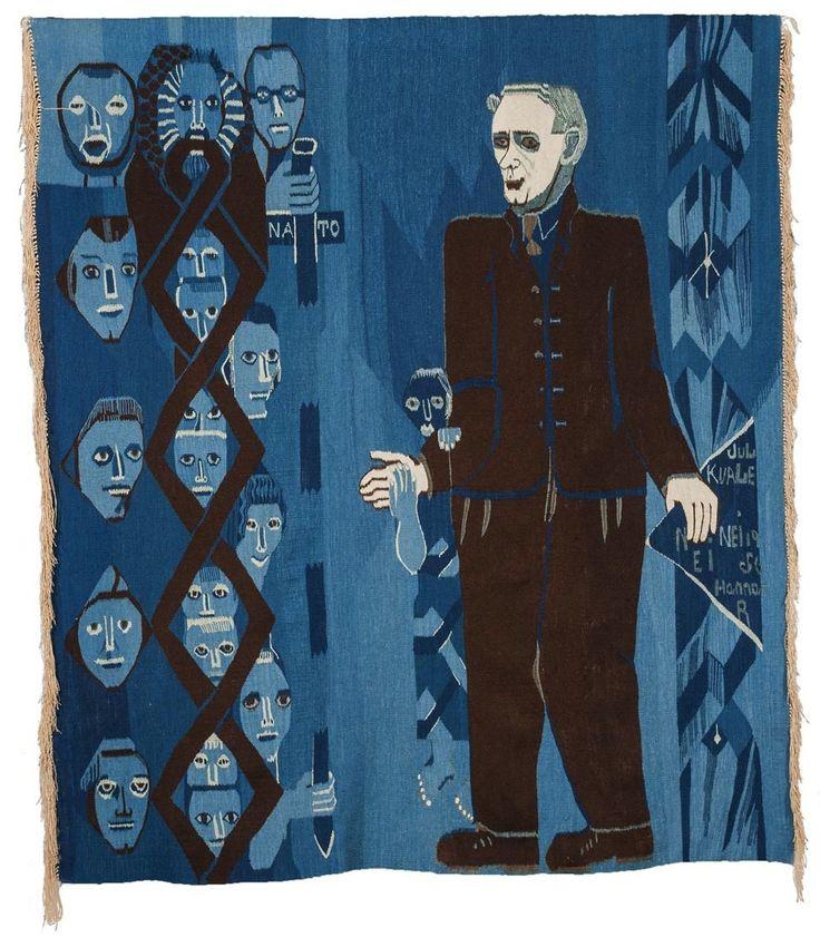 Hannah Ryggen (Norwegian, born Sweden, 1894-1970), Jul Kvale, 1956. Tapestry.