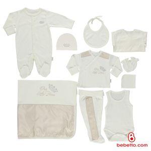 Bebetto - COTTON BABY NEWBORN SET 10 PCS (Prens)