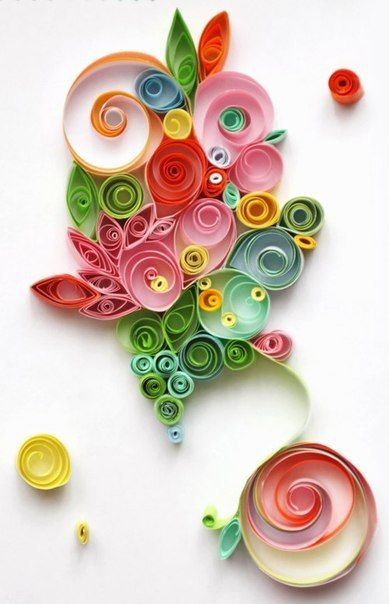 papel / rolled paper art. Wish I could do this!