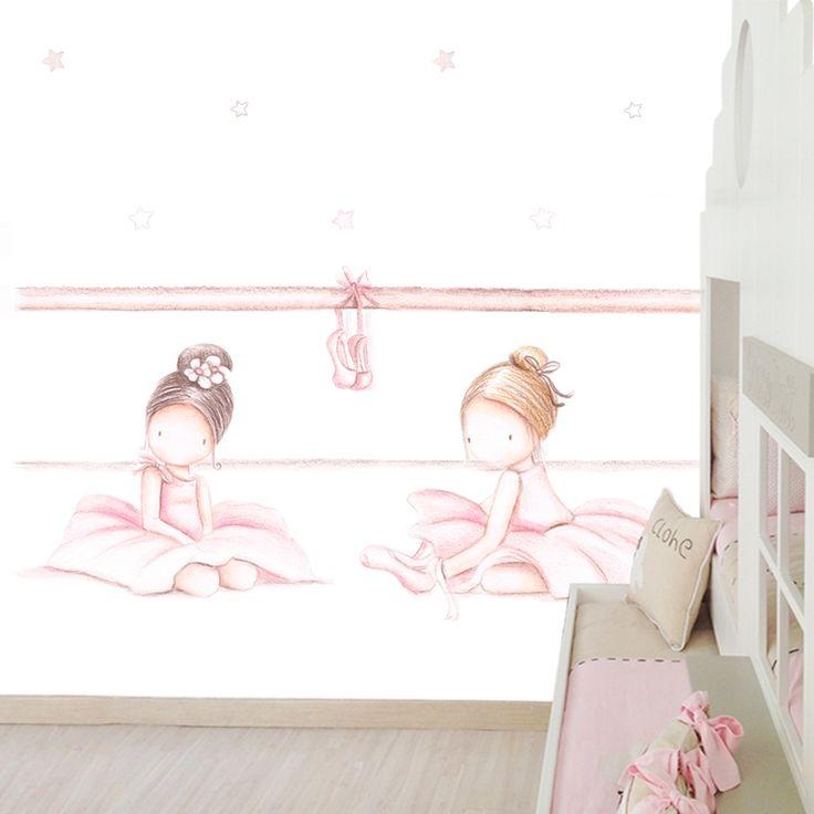 precioso mural para una bailarina muy especial papel