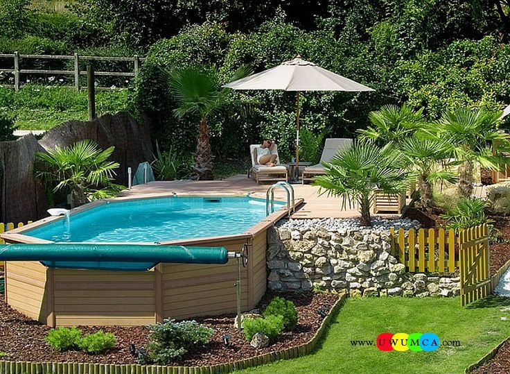 Swimming pool cool swimming pool deck ideas inground Above ground pool patio ideas