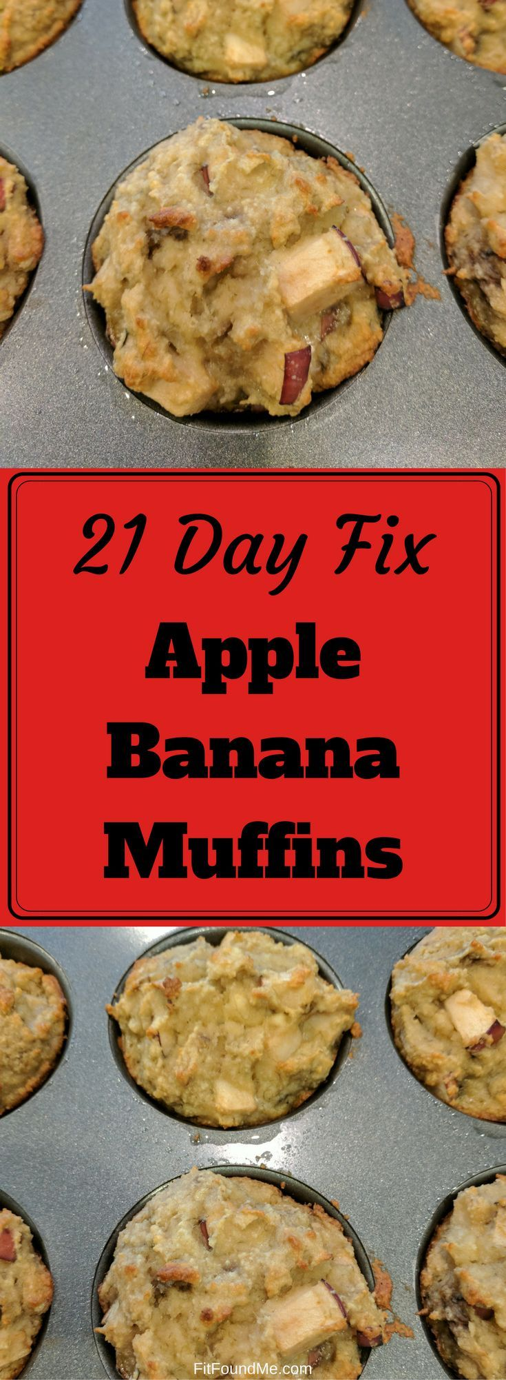 21 day fix approved fall comfort or anytime apple banana muffins! Using almond flour and other healthy ingredients. #21dayfix #healthymuffins #healthysnacks #lowcarb
