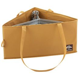 The Container Store > Hanger Hamper™  --- Could create same concept by getting regular rectangular box and putting divider inside to separate diagonally