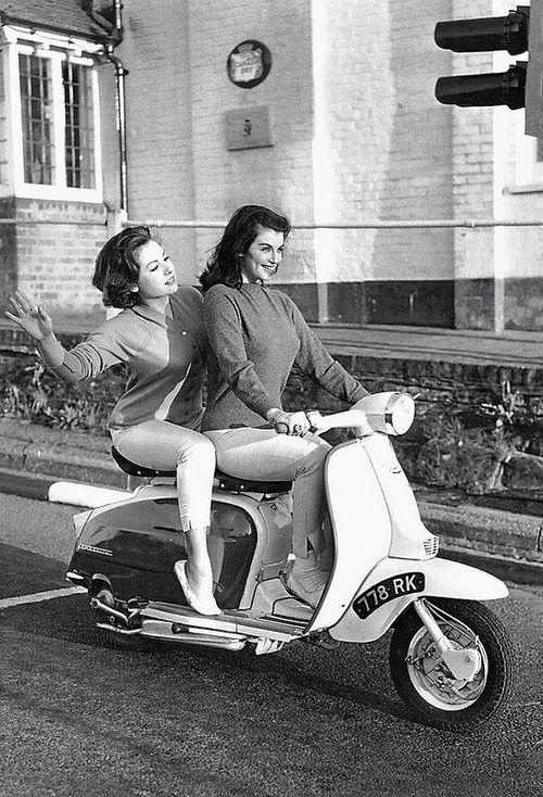 Girls on a Lambretta