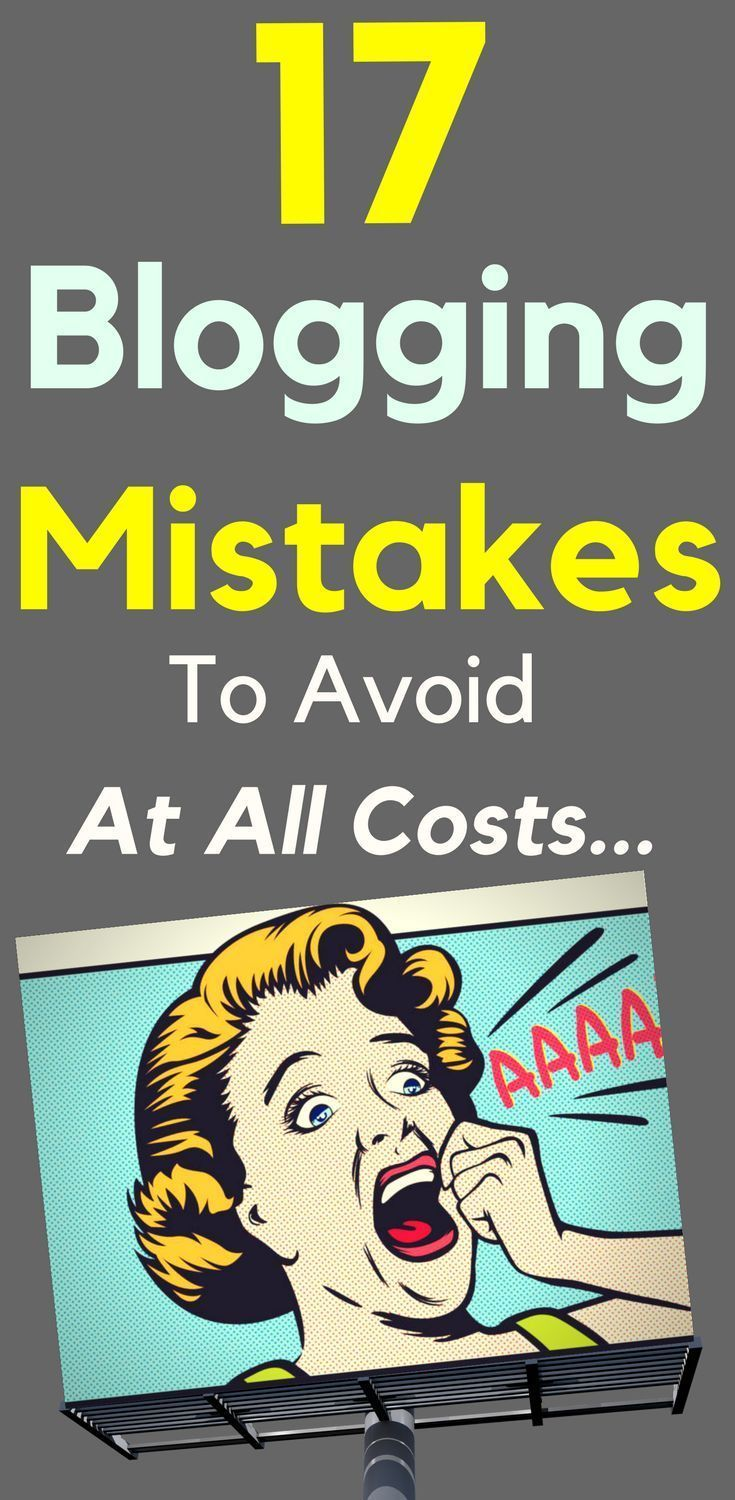 17 Blogging Mistakes To Avoid At All Costs  If you haven't already committed a few of the slip-ups I'll be discussing here, then great! I'm happy to know that you might benefit from my past mistakes, as well as the blunders others have made.   Read The 17 #Blogging #Mistakes To Avoid At All Costs Now >>