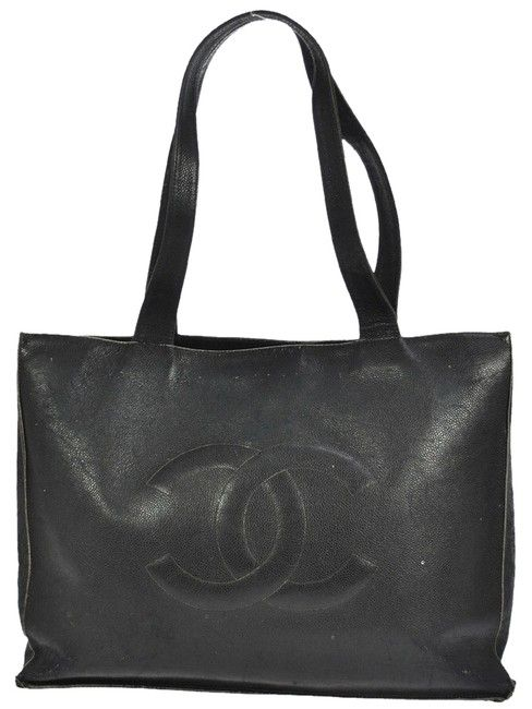 b0f84541620d Chanel Xxl Jumbo Cc Black Tote Caviar Leather Shoulder Bag - Tradesy ...