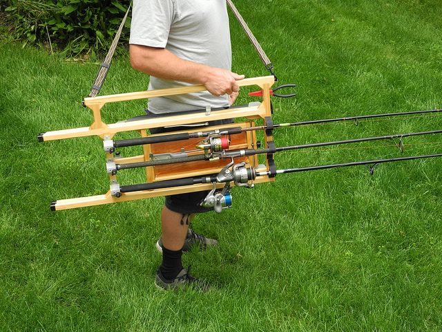 1000 ideas about fishing pole craft on pinterest paper for Fishing rod tote
