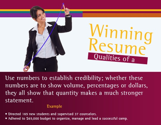 Tips For Profiling Your Responsibilities: Use Numbers To Establish  Credibility; Whether These Numbers Are · Resume WritingResume ...