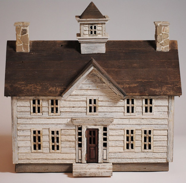 Miniature Architectural Wood Folk Art House From Michaels House Ebay