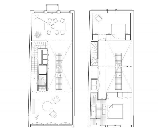 plan upper apartment