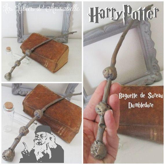 Baguette Magique univers Harry Potter Style Dumbledor Baguette de Sureau