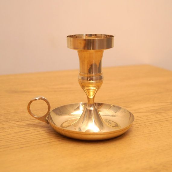 Vintage Candle Holder / Candle Stick  solid brass by UKAmobile