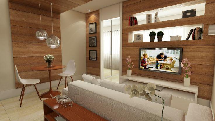 Sala, rack, madeira com mdf branco Home Pinterest  ~ Rack Quarto Branco