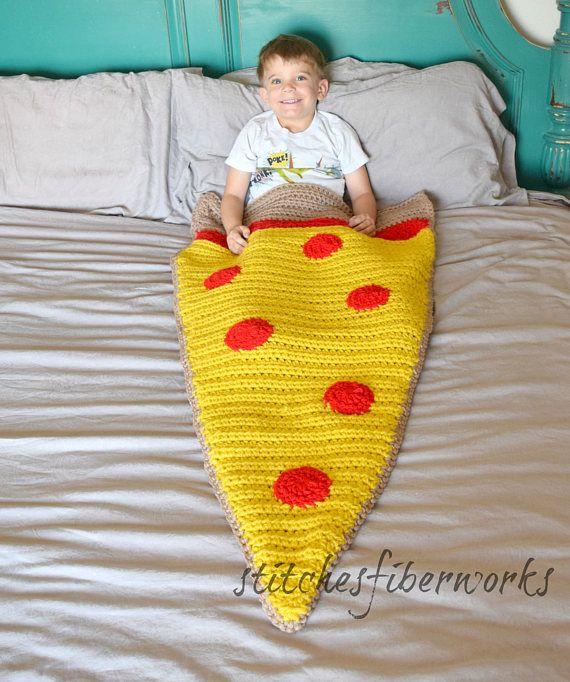 Pizza Blanket Child's Pizza Blanket Crochet Pizza