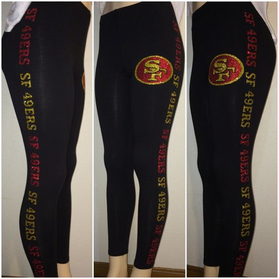 Hey, I found this really awesome Etsy listing at https://www.etsy.com/listing/198810313/san-francisco-49ers-leggings