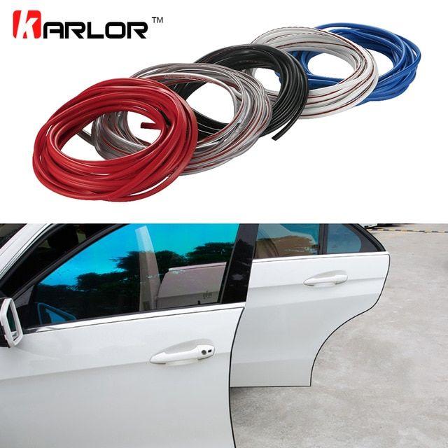 Car Door Edge Guards Strip U Shape Trim Molding Carbon Fiber Seal Protector 5M