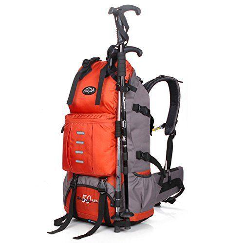 Local lion sac à dos outdoor randonée trekking montagne alpinisme ski Décathlon 50L (Orange): Local lion sac à dos outdoor randonée…