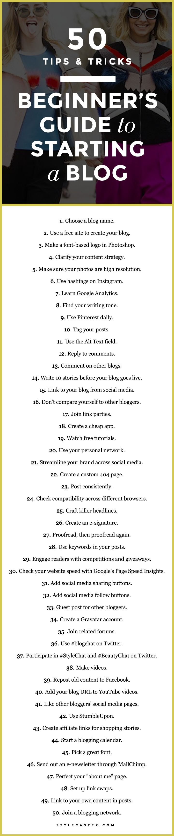 A Beginner's Guide to Starting a Blog: 50 Essential Tips and TricksRebecca Shah