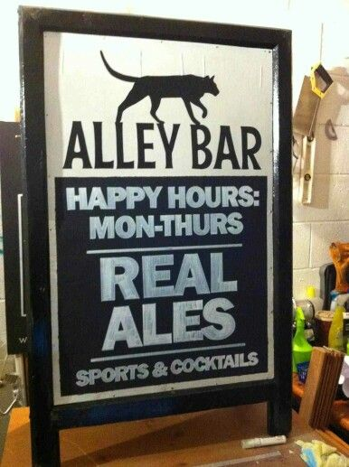 An A-Board for The Alley Bar, Sowerby Bridge