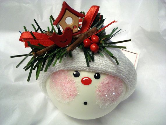 114 best snowball ornaments images on pinterest