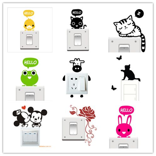 Cute Cartoon Switch Sticker (29 models) //Price: $5.99 & FREE Shipping //     #housedecoration