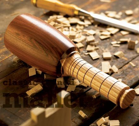 Classic turned mallet Woodworking Plan from WOOD Magazine