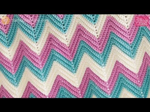 Zali Zig-Zag Crocheted Chevron Blanket - YouTube