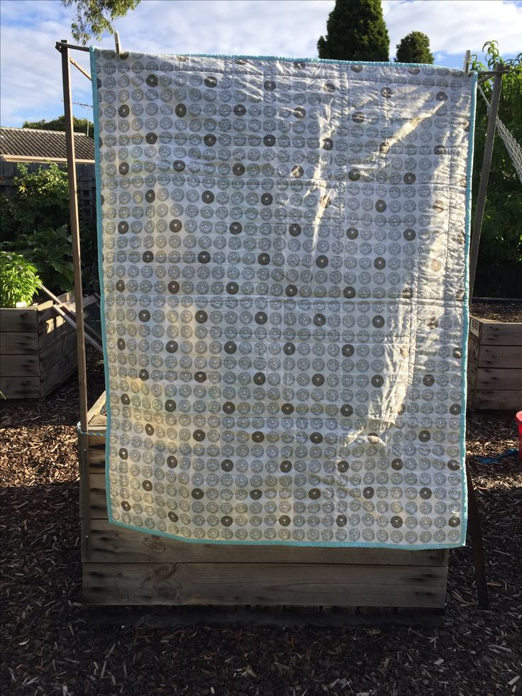 Baby quilt. Darling little dickens fabric from Moda