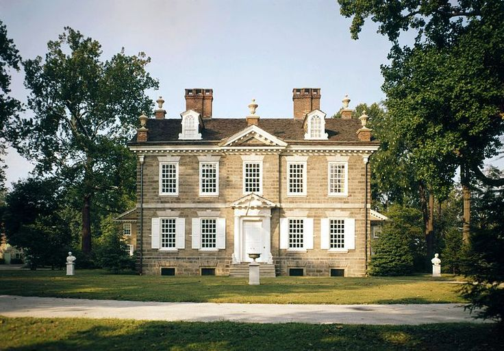 Cliveden, the Benjamin Chew estate in Germantown, near Philadelphia, was an inspiration for Natalya's family home, Belle Maison.