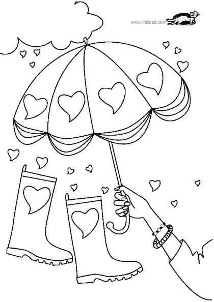 26 best colouring for girls and fashion images on Pinterest Adult - new preschool coloring pages rain