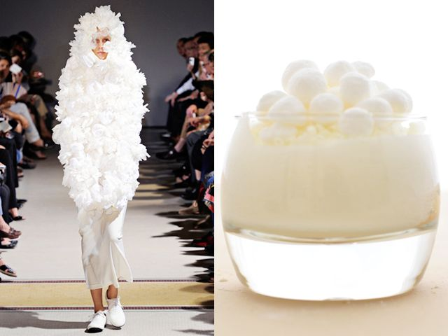 Comme des Garçons ss 2012 / White chocolate tiramisù with chopped meringue