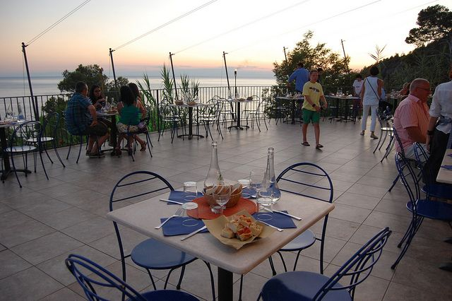 Outdoor dinner on the Terrace of the Restaurant
