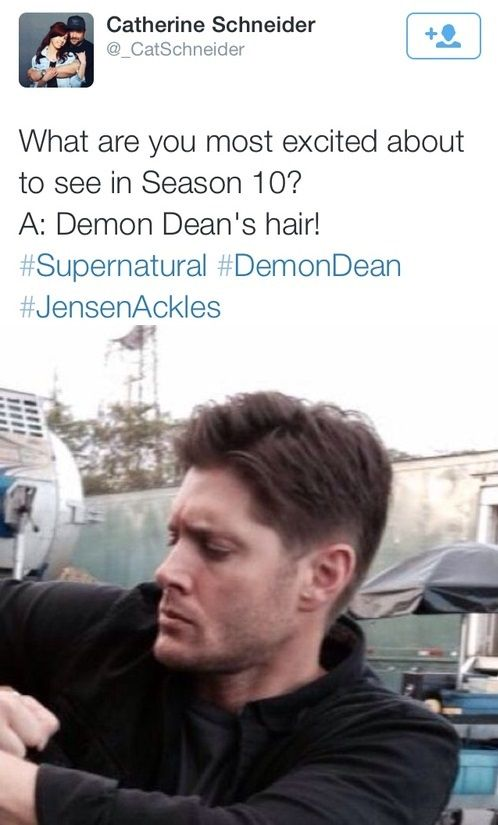 Demon!Dean's Hair||.....I have the sudden urge to mess his hair up.