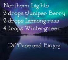 DIFFUSER BLEND ~ Northern Lights blend ~ 2 Juniper, 2 Lemongrass, 4 Wintergreen ❤️