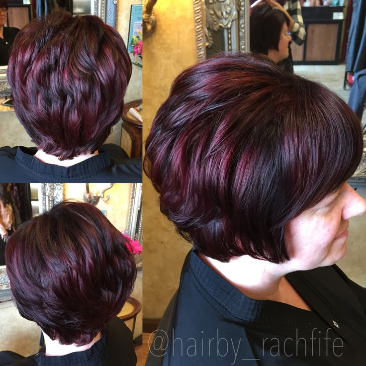 Vibrant Red Violet Color Created Using Redken Chromatics