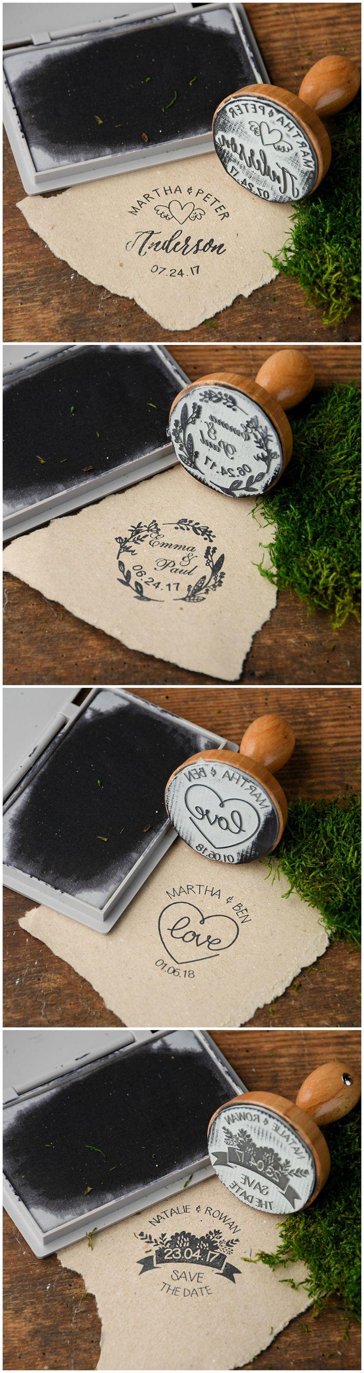 Wedding Wooden Custom Stamps #weddingideas #creative #weddingstamp #woodenstamp #rustic #eco #lovely #DIY #weddingprep #weddingpreparing #custom
