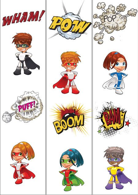 Teachers Pet - Onomatopoeia Posters (superhero theme)  - FREE Classroom Display Resource - EYFS, KS1, KS2, super, heroes, comics, comic, adventure, action