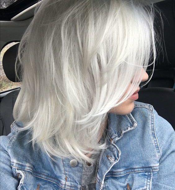 platinum grey hair extensions