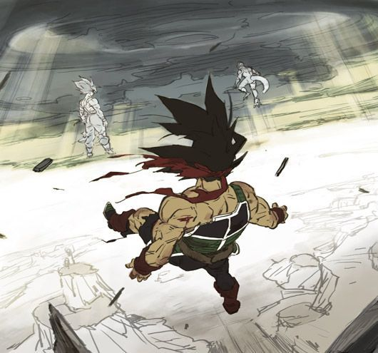Bardocks final vision of his son, Goku fighting Frieza.  #Bardock #DragonBallZ #DBZ #DBZClub