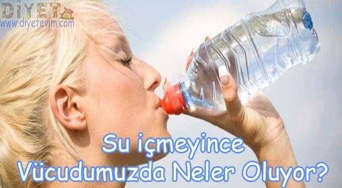 Günlük su tüketimi 2,5 - 3 litre kadar olmalıdır. Su içilmediğinde vücudumuzda bir çok değişiklik meydana gelir. Bu değişikler nelerdir?