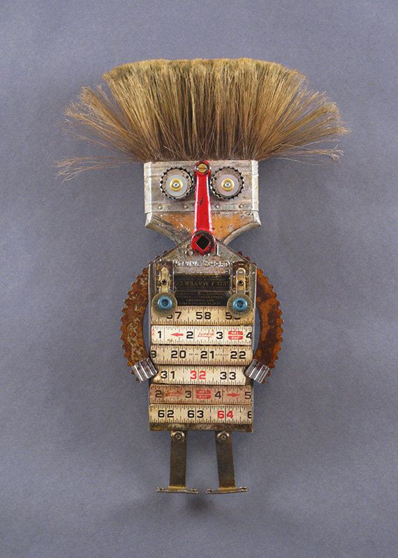 ROBOT SCULPTURE from found objects