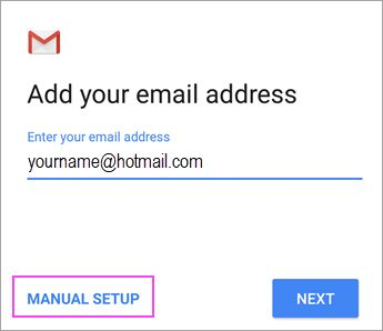 If you have any problem with Microsoft Account, You should Contact Microsoft support regarding your Office 365 setup or Outlook.com email setup.    If you are using working or school account of Office 365 for business or exchange based accounts, then you need to contact the admin of office 365.    To do a manual setup in android email app - Gmail app, you need to follow this process.   #microsoft office 365 #microsoft outlook #microsoft outlook 2013 #microsoft o