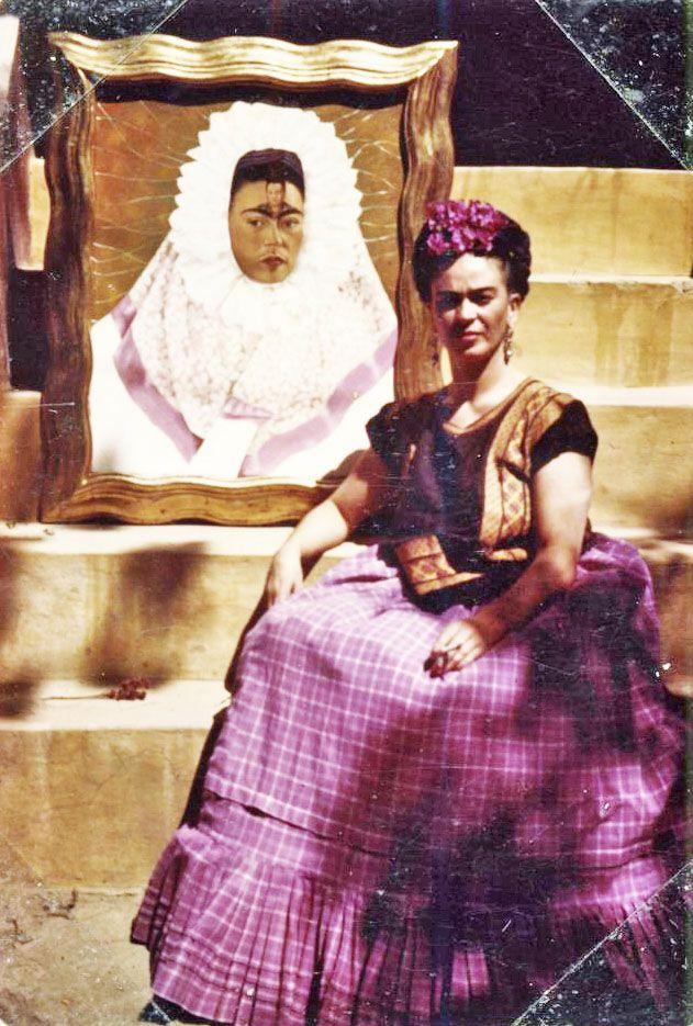 Frida Kahlo for mexican vogue, c. 1942