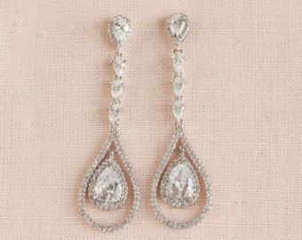 Vintage-Stil Perlen Crystal Bridal Ohrringe von CrystalAvenues