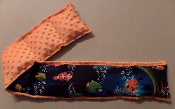 Weighted Neck Wrap or Lap Pad 3 lbs Nemo Aquarium Minky Deep
