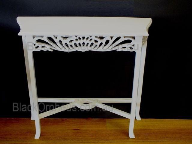 Hall Table White, W82x D26x H76cm, Small Table, Lamp Table, Occassional Table.