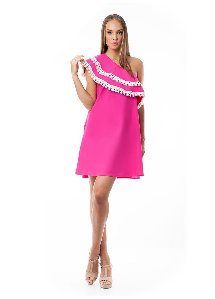 One shoulder girly dress. Find it at www.disu.gr
