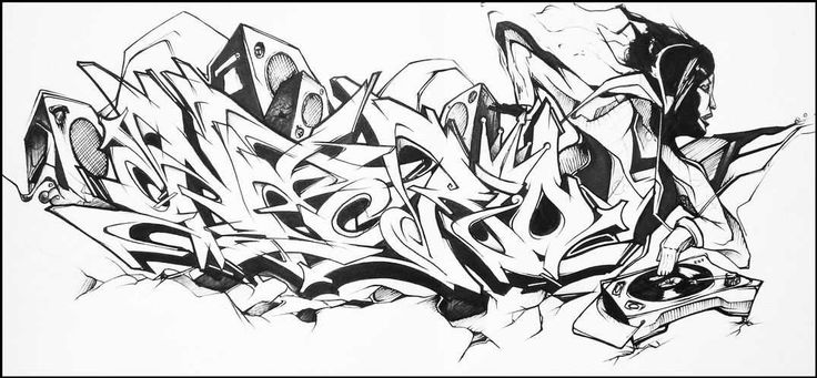 Graffiti wildstyle image - moe can change anime pictures
