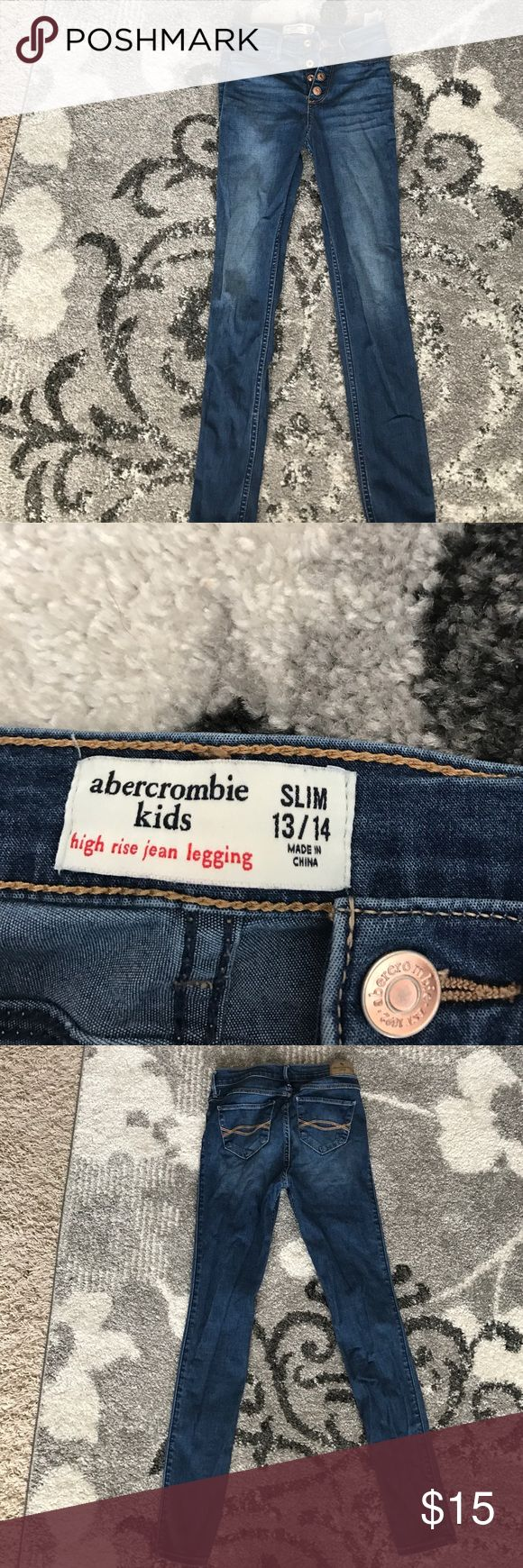 Abercrombie Kids high rise jean leggings 13/14 slim abercrombie kids Bottoms Jeans