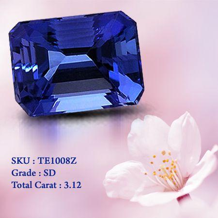 3.12 Carats #Emerald cut #Tanzanite #Stone